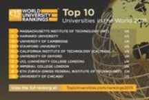QS World University Rankings 2015/16 / Where are the world's top universities in 2015/16? Follow our board and get the latest news about the world's top instititions and the higher education trends. #QSWUR