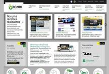 Tonik Web Studio website