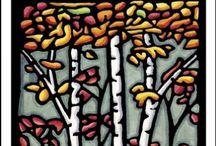 The Great Oudoors / Beautiful linocut images of the great outdoors!