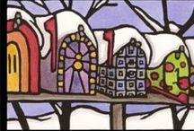 Happy Holidays / Sarah Angst Holiday Inspired Art