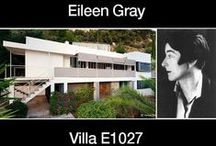 Eileen Gray / (1878 – 1976) was an Irish furniture designer and architect and a pioneer of the Modern Movement in architecture.
