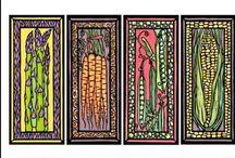 Fruits & Veggies / Sarah Angst Fine Artist & Printmaker Fruit & Vegetable Original Images - www.sarahangst.com - #sarahangst