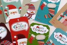 Christmas gift cards and tags / Free printables for Christmas gift cards