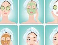 Masques visage / Masques faciales fait maison pour prendre soin de la peau du visage naturellement