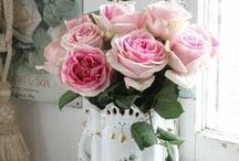 Romantic Roses / Roses.  Dreamy roses.  Pink Roses, Cabbage roses.   The Queen of flowers and a great influence on our website at RoseBlossomCottage.com.