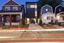 Shaft House / // Design Architect: Reza Aliabadi [rzlbd] // Project Team: Reza Aliabadi & Ali Malekzadeh // Construction: Urbanline // Architectural Photography: borXu // Building Type: Single family house // Location: Toronto // Basics: Three story wood structure // Lot: 20'X100' // Living Area: 1400 sqft // Design: 2009-2010 // Completion: Summer 2010 //