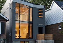 63˚ House / // Design Architect: Reza Aliabadi [rzlbd] // Construction: Maxamin Corp. // Architectural Photography: borXu // Building Type: Single family house // Location: Toronto // Basics: Two story wood structure // Lot: 25'X100' // Living Area: 1670 sqft // Design: 2008 // Completion: Summer 2009 //