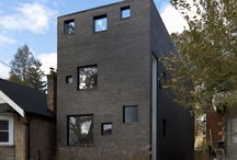 Charcoal House / // Design Architect: Reza Aliabadi [rzlbd] // Construction: Maxamin // Architectural Photography: borXu // Building Type: Single family house // Location: Toronto // Basics: Three story wood structure // Lot: 24'X125' // Living Area: 2100 sqft // Design: 2009 // Completion: Summer 2010 //