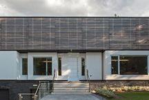 Gallery House / // Design: Reza Aliabadi [rzlbd] // Construction: Maxamin // Structure: Hany Isshak & Alireza Saeed // Landscape: Morteza Behrooz // Architectural Photography: borXu // Building Type: Single family house // Location: Markham // Basics: Two story steel & wood structure // Lot: 70'X140' // Living Area: 6000 sqft // Design: 2010 // Completion: Spring 2012 //