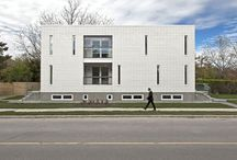 Patio House / // Design Architect: Reza Aliabadi [rzlbd] // Structure: ADA Engineering // Construction: Maxamin Corp. // Architectural Photography: borXu // Graphics: Behrouz Hariri // Building Type: Single family house // Location: Toronto // Basics: Two story wood structure // Lot: 25'X100' // Living Area: 2000 sqft // Design: 2010 // Completion: Spring 2012 //