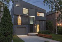 Tetris House / // Design: Reza Aliabadi [rzlbd] // Structure: ADA Engineering // Construction Management: Doreen Development Inc. // Architectural Photography: borXu // Building Type: Single family house // Location: Toronto // Basics: Two & half story wood structure // Lot: 40'X110' // Living Area: 3000 sqft // Design: 2012 // Completion: Summer 2013 //
