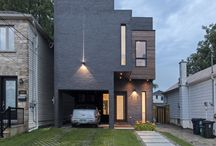 Totem House / // Design: Reza Aliabadi [rzlbd] // Structure: ADA Engineering // Construction Management: Urbanline // Architectural Photography: borXu // Building Type: Single family house // Location: Toronto // Basics: Two story wood structure // Lot: 25'X100' // Living Area: 1600 sqft // Design: 2011 // Completion: Summer 2013 //