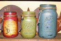 Painted Ball Jars and Other Painted Glass