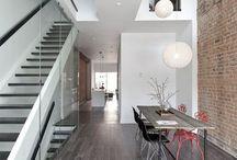 Lady Peel House / // Design: Reza Aliabadi [rzlbd] // Project Team: Lailee Soleimani // Structure: Hossein Azargive // Construction Management: Fardin Chadorshabchi // Architectural Photography: borXu // Building Type: Single family house // Location: Toronto // Basics: Three story masonry & wood structure // Lot: 15'X130' // Living Area: 3000 sqft // Design: 2011 // Completion: Winter 2012 //