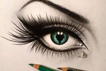 Pencil Drawing Black and Color