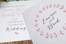 Invitaciones de Boda / Muestrarios de invitaciones de boda: tradicionales, románticos, vintages, DIY, temáticas...