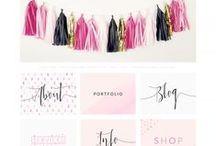 Brand Me Beautiful / Brand boards, logo design, brand design and web design for female entrepreneurs