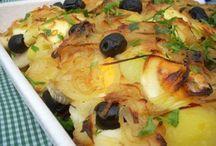 Bacalhau/Peixes/Frutos do mar / Receitas com peixes, frutos do mar e bacalhau