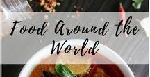 Food Around the World / Here's a little something to whet your appetite - some mouth-watering foods, snacks, street food, and libation from around the world!   Hungry for more? Visit https://www.travlinmad.com/food-around-the-world