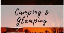 Camping & Glamping / Camping is one of the few things that reconnects us with the outdoors, and Glamping just takes it up a notch or three! Whether you love rustic or a bit of glam, here are the best camping spots, ideas, and inspo from around the world! | Camping, Campout, Glamping, Glam Camping