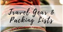 Travel Gear & Packing Lists / The greatest and latest gear ideas for your own travels, and gifts for the travelers in your life. | Travel gear, travel necessities, travel equipment, packing lists, gifts for travelers, Travel must haves