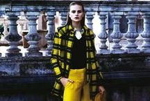 Yellow Tartan Looks / The Best Editorials displaying Fay yellow tartan looks for this Fall - Winter 2013/14.