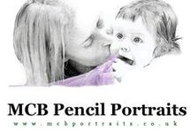 MCB Pencil Portraits / Pencil portraits of people and pets drawn from photographs.
