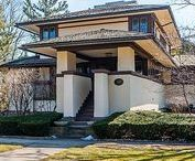 Frank Lloyd Wright / Prairie Style Architecture & most homes or buildings showcasing the Chicago area where he was prevalent. The 'Wright' stuff. #franklloydwright