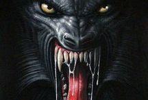 ✽ Vampires & Werewolves ✽ / #vampires #werevolves #dracula #nosferatu #blood #wolf #wolves – by Macabre Media