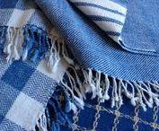 indigo interiors / Natural indigo dyes, handwoven home textiles, inspiring indigo interiors