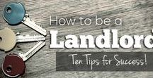 Landlord Tips / Where to start, how to begin, how to be a success.  So you'd like to be a landlord. #landlord #realestateinvesting