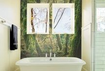 Bathroom Ideas / Bathrooms are the perfect place to make a big impact with murals. If you don't have a window, a mural can give you a view without sacrificing privacy. You can also use wall murals to lighten up a small bathroom and create the illusion of a larger space.