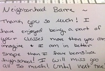 Love Letters. / Neighborhood Barre Testimonials! Our clients write the BEST love letters.