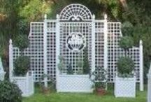 "GARDEN..TREILLAGE / I love ""Treillage, Lattice, Fretwork""  Whatever You Want to Call It.......It Lends Itself To A Much More Formal Look......(PLEASE ONLY  5 Pins Per Board)  Thanks! !"