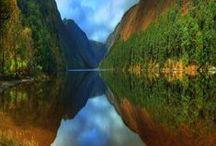 Lac du monde / photographie de magnifique lac
