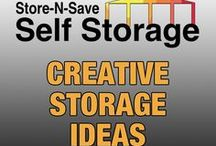 Creative Storage Ideas / Get organized with these creative and amazing storage ideas from around the internet.