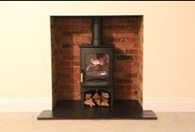 Bespoke Fireplaces with Charnwood Wood Stoves / This is our portfolio of Charnwood wood burning stoves that have been incorporated into our bespoke fireplace installations