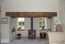 Bespoke fireplaces with Clearview wood stoves / Our portfolio of bespoke fireplaces integrated with Clearview wood burning stoves