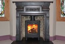 Wood burning stoves in antique fireplaces / This board shows our own installations of wood burner integrated into antique fireplaces