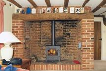 Inglenook Fireplace Restoration with Log burners / This board shows Scarletts portfolio of our own completed work integrating wood burning stoves into original Inglenook fireplaces that we have restored.