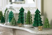 Mantel display - Christmas / DIY decor to go on our mantel at Christmas