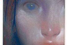 Portraits by Ashly Lovett / portraits in chalk pastel.