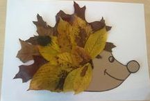 """Herfst / Materialen passend bij het thema """"Herfst""""."""