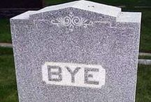 Collection of funny tombstones / Se for yourself