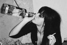 b&w drunk