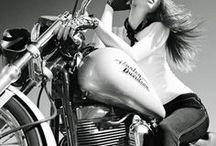 b&w motorcycle & woman