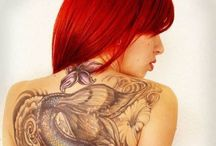 Love... (only red's) / Girls, tattoo, piercing, cosplay..... Love.....but only RED!!