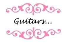 "Guitars... / ,, Alice's idea ... ""- handicraft created with passion! www.alicesidea.pl"