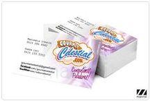 Papelería, impresos (muestra) / Diseños e impresión de papelería, tarjetas de presentación, flyers publicitarios, entre otros. Por Manrei / Rei Pilca