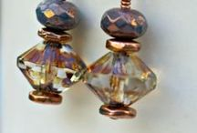 Jewelry using Czech Glass Saucers / Jewelry made with Nirvana Beads Czech glass saucers in different sizes and finishes